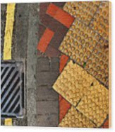 Street Abstract Wood Print