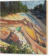 Street Art At Washington D.c. - Cultivating The Rebirth 3 Wood Print