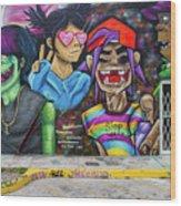 Street Art Graffiti Wood Print