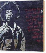 Street Art - Jimmy Hendrix Wood Print