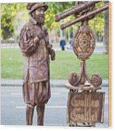 Street Entertainer - La Rambla - Barcelona Spain Wood Print