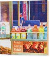 Street Food 3 Wood Print