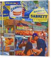 Street Food 5 Wood Print