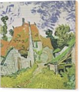 Street In Auvers Sur Oise Wood Print