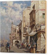 Street In Cairo Wood Print