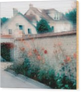 Street In Giverny, France Wood Print