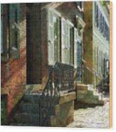 Street In New Castle Delaware Wood Print