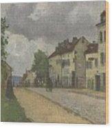 Street In Pontoise Strabe In Pontoise Camille Pissarro Wood Print