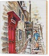 Street In Robin Hoods Bay 01 Wood Print