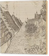 Street In Saintes-maries-de-la-mer Wood Print