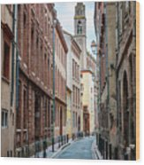 Street In Toulouse Wood Print
