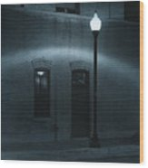 Street Lamp Arc Wood Print