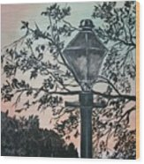 Street Lamp Historic Vintage Art Print Wood Print