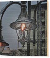 Street Lamp Wood Print