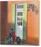 Street Life In Memphis Wood Print