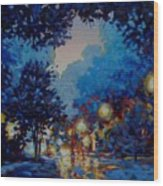 Street Lights Wood Print