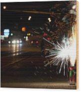 Street Lights Wood Print