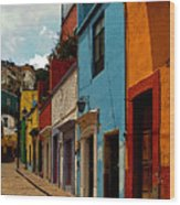 Street Of Color Guanajuato 3 Wood Print