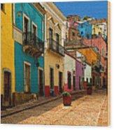 Street Of Color Guanajuato 4 Wood Print