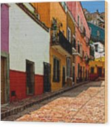 Street Of Color Guanajuato 5 Wood Print