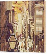 Street Of Dubrovnik Old Town Wood Print