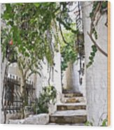 Street Of Marmaris Wood Print