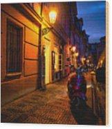 Street Of Prague Wood Print