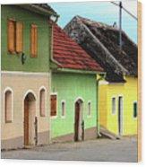 Street Of Wine Cellar Houses  Wood Print