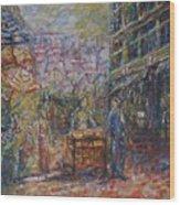Street Peddler - Kl Chinatown Wood Print