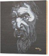 Street Person Wood Print