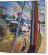 Street Pole Wood Print