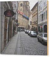 Street  Praha Wood Print