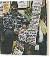 Street Preacher On The A Train Wood Print