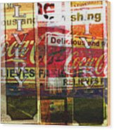 Street Print Wood Print by MW Robbins