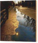Street Reflections Wood Print