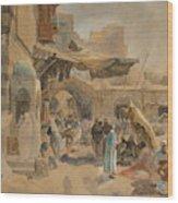 Street Scene In Jaffa Wood Print