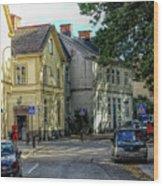 Street Scene In Strangnas Wood Print