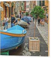 Street Scene Manarola Italy Dsc02634 Wood Print