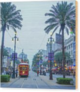 Street Scene, New Orleans Wood Print