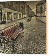 Street Seat Wood Print
