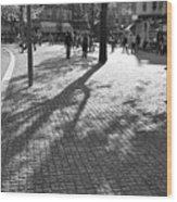 Street Shadows Wood Print