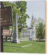 Street Sign In Fitzwilliam, New Hampshire Wood Print