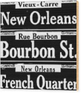 Street Sign Scenes Of New Orleans Wood Print