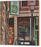 Street Signs Portland Maine Wood Print