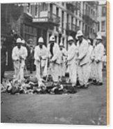 Street Sweepers, 1911 Wood Print