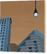 Street View Wood Print by Karol Livote