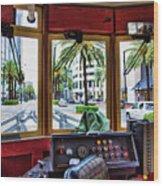Streetcar Interior New Orleans  Wood Print
