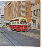 Streetcar On Carlton Circa 1970 Wood Print