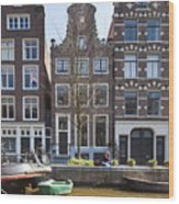 Streets And Channels Of Amsterdam Wood Print