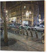 Streets At Saint-michel Wood Print